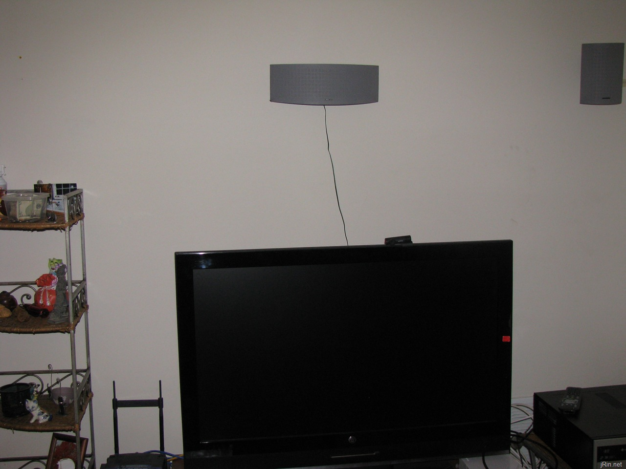 how to hide wall mounted speaker wires in your apartment for under rh jrin net Speaker Cabinet Wiring Speaker Wall Jacks