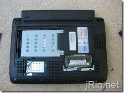acer aspire one 10 aod150 covers removed