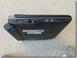acer aspire one 10 aod150 left side