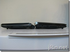 acer aspire one 10 vs eeepc 1000he thickness