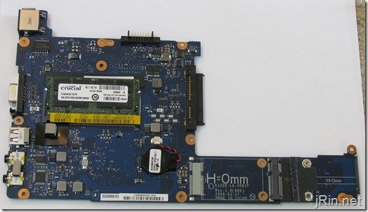 dell mini10v memory slot