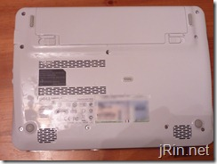 dell mini 1012 bottom