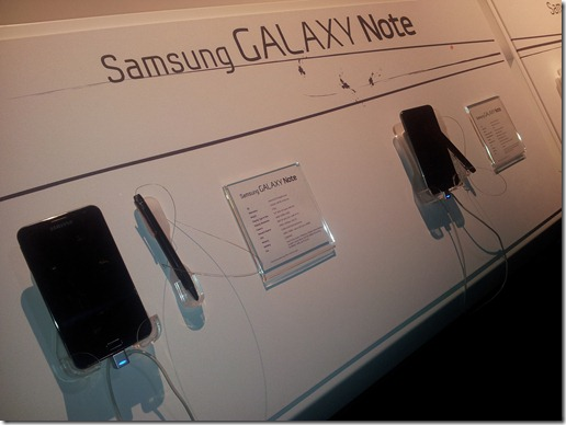 galaxy note demonstrations