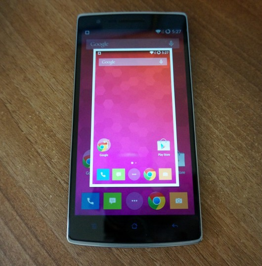 How to take a screenshot on the OnePlus One