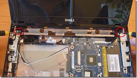 9 remove display screws