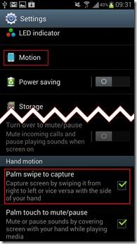 enable palm swipe