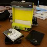 How to dismantle a Western Digital My Passport external hard drive